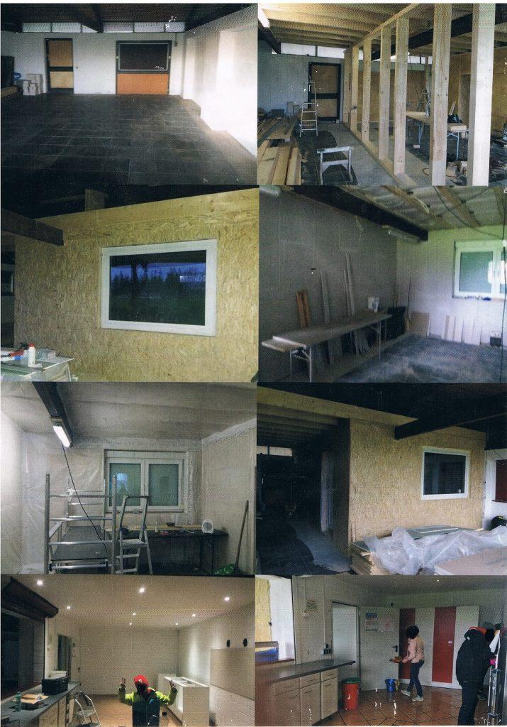 Fotos Umbau Vereinsheim